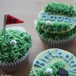 Golfer Cupcakes