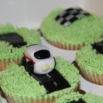 LIttle rally car cupcakes