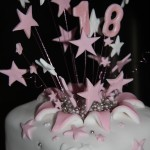 Pink Starburst Cake