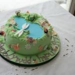 cute garden cake