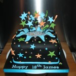 18th Star burst cake
