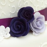 Purple rosese Wedding Cake