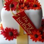 Gerbera Birthday cake