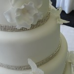 Butterflies and Bling wedding cake