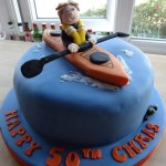 Sea kayaking cake