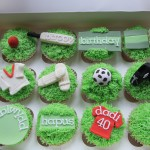 cricket and football cupcakes
