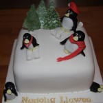 Penguins Christmas Cake