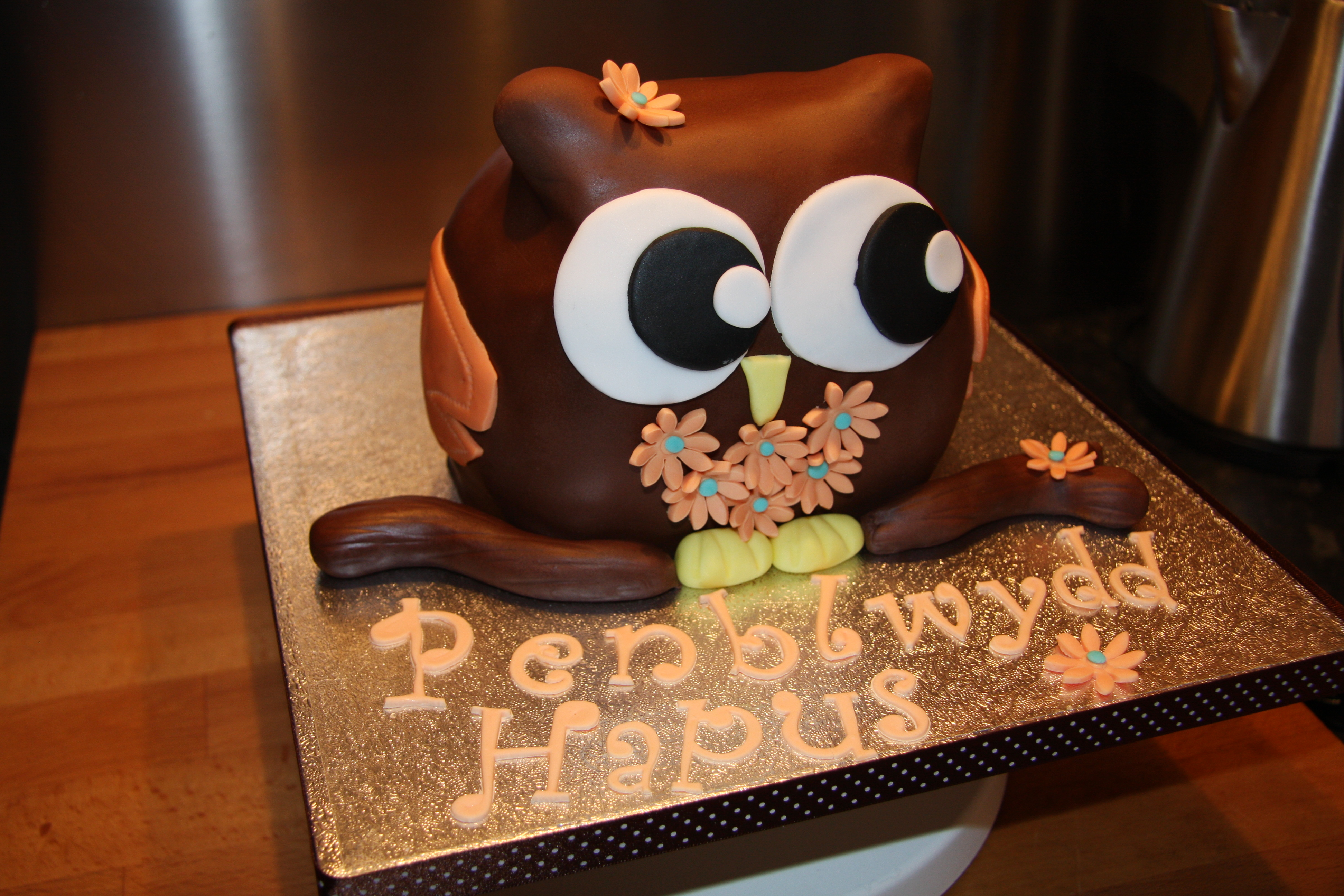 Cute Owl Cake