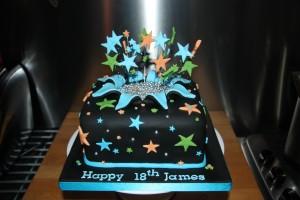 18th Star burst cake