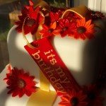 Gerbera Birthday cake