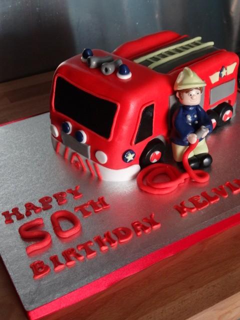 Firemen cake