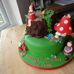 Enchanted woodland fairies cake