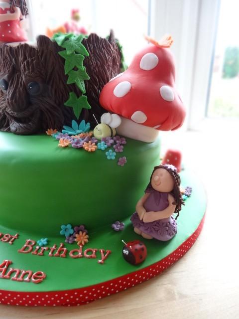 Enchanted woodland fairies cake