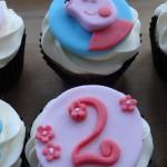 Pepper pig cupcakes
