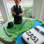 Police golf cake