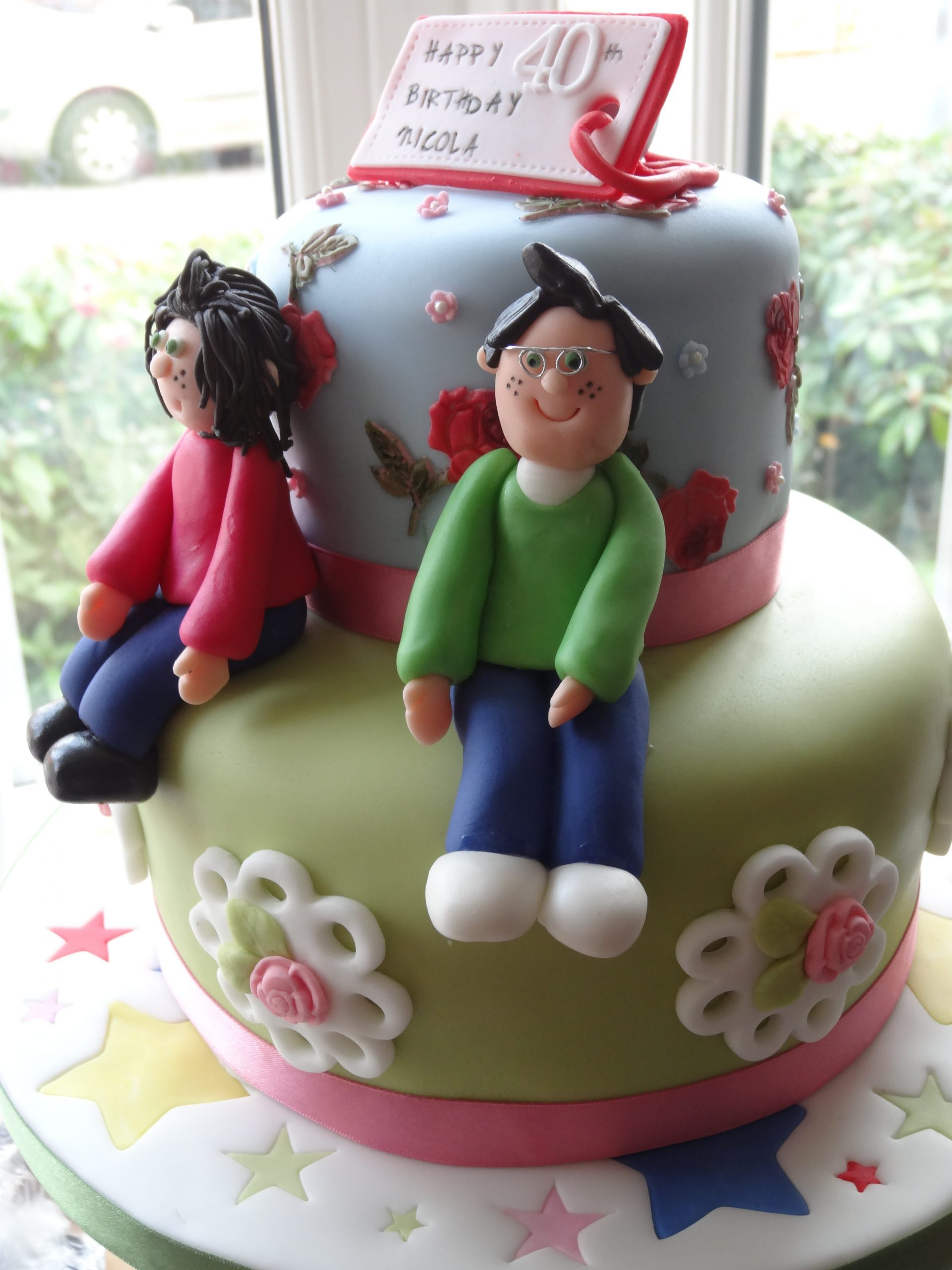 Cath Kidston inspired 40th birthday cake