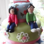 Cath Kidston inspired 40th birthday cake