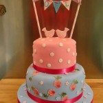Cath Kidston inspired birds and bunting cake